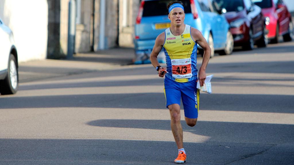 Jonas Leandersson i orienterings-VM. Foto: Mårten Lång/Skogssport/TT