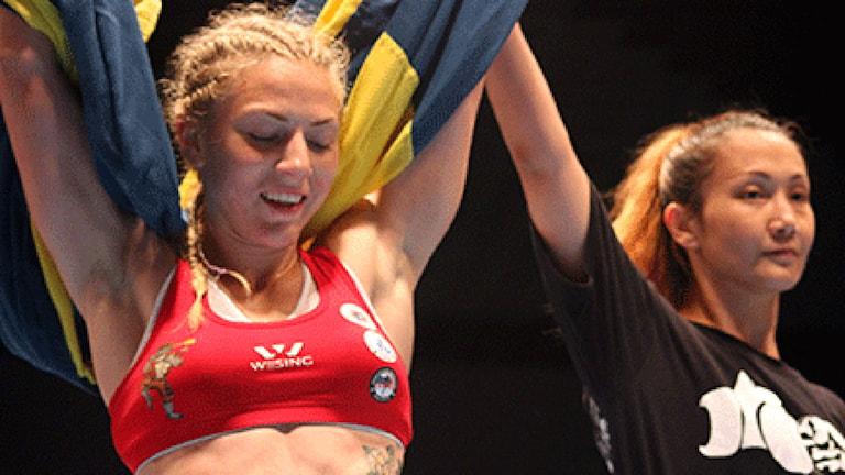 Sofia Olofsson vann finalen i 54-kilosklassen. Foto: Budo- och kampsportsförbundet