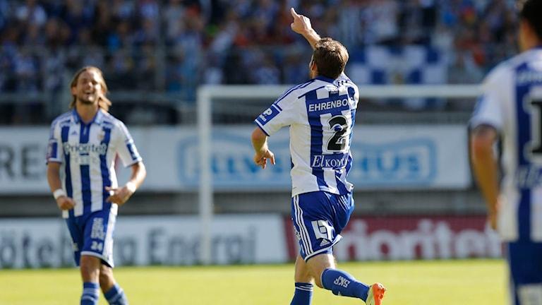 IFK:s Göteborgs Emil Salomonsson kvitterade i förlängningen genom straff. Foto: TT Nyhetsbyrån