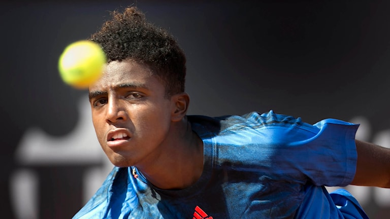 19-årige tennisspelaren Elias YmerFoto: Björn Larsson Rosvall / TT