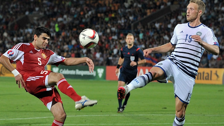 Armenien och Danmark spelade 0-0 på måndagskvällen. Foto: KAREN MINASYAN/TT.