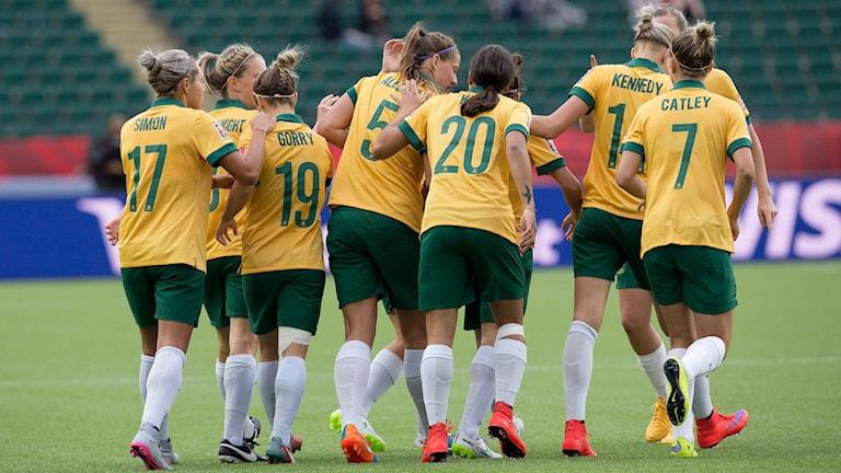"Australiens ""Matildas"". Foto: Jason Franson/The Canadian Press via AP/TT"