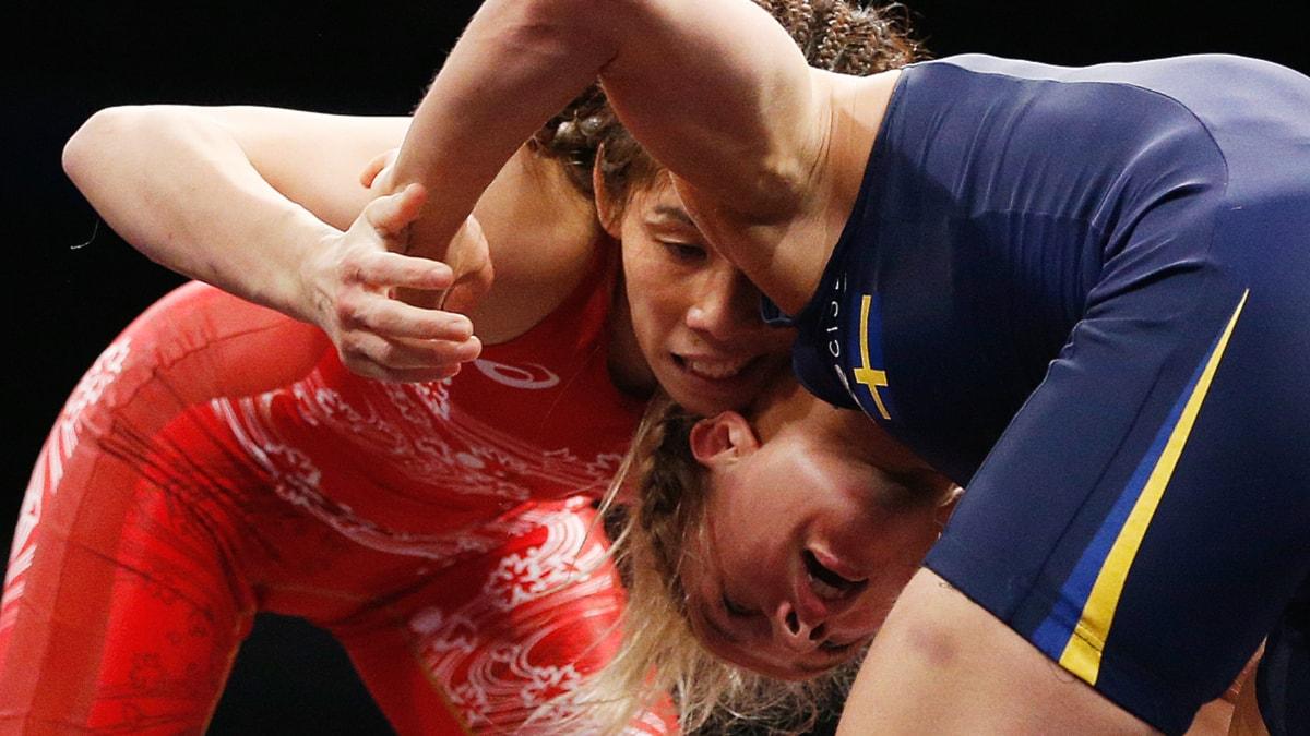 2015 Brottnings-VM japanskan Saori Yoshida mot Sofia Mattsson. Foto: John Locher/TT