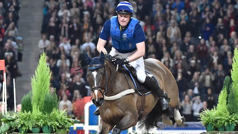Arkiv 2014, Niklas Lindbäck på Mister Pooh i fälttävlan i Sweden International Horse Show