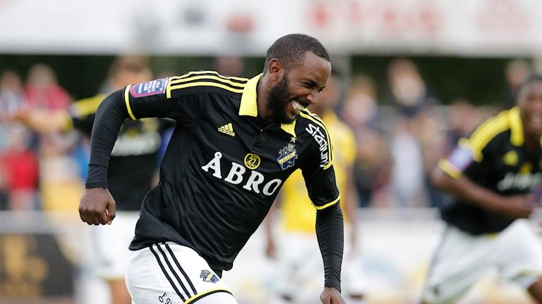 Henok Goitom gjorde två mål i AIK:s seger mot Falkenberg. Foto: Adam Ihse/TT