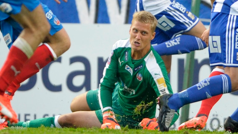 Pär Hansson hade ingen bra dag på jobbet mot IFK Göteborg. Foto: TT