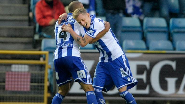 Sören Rieks jublar efter 2-1-målet. Foto: Björn Lindgren/TT