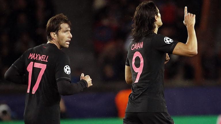 Cavani firar 2-0-målet. Foto: AFP/TT