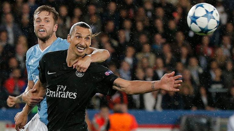 Zlatan Ibrahimovic stod för en assist i 2-0-segern mot MFF. Foto: AP Photo/Thibault Camus/TT