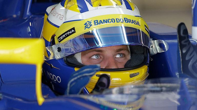 Marcus Ericsson i sin Sauber. Foto: Luca Bruno/TT.