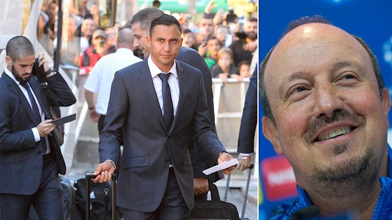 På tisdagen anlände Real Madrid till Malmö inför morgondagens match. Till höger: Reals tränare Rafael Benitez. Foto: TT