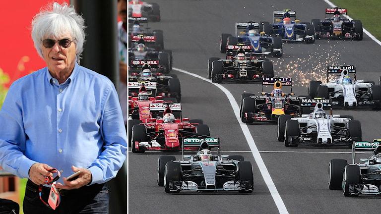 Bernie Ecclestone och starten av F1-loppet i Japan 2015