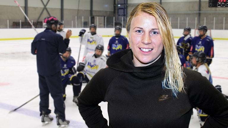 Axelskadade Jenni Asserholt hoppas på att snart vara tillbaka på isen. Foto: Paul Zyra/SR