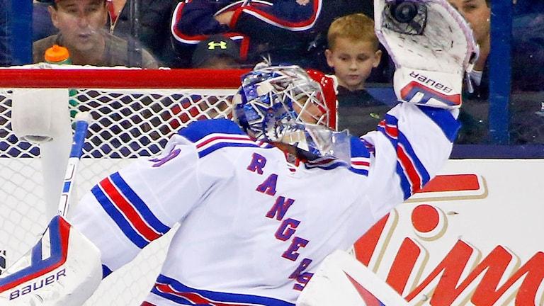 20151009 Henrik Lundqvist, NY Rangers. Foto: Kirk Irwin/TT.