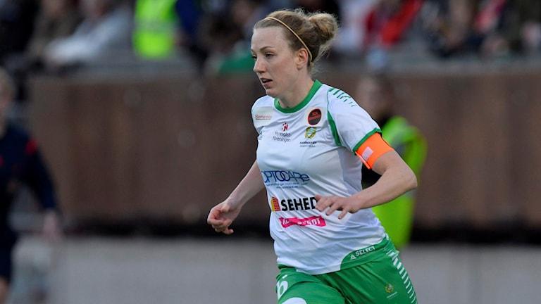 Olga Ekblom i Hammarby. Foto: Henrik Montgomery/TT