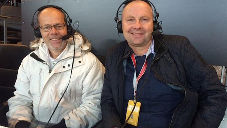 Dag Malmqvist (t.v.) och Håkan Mild. Foto: SR.
