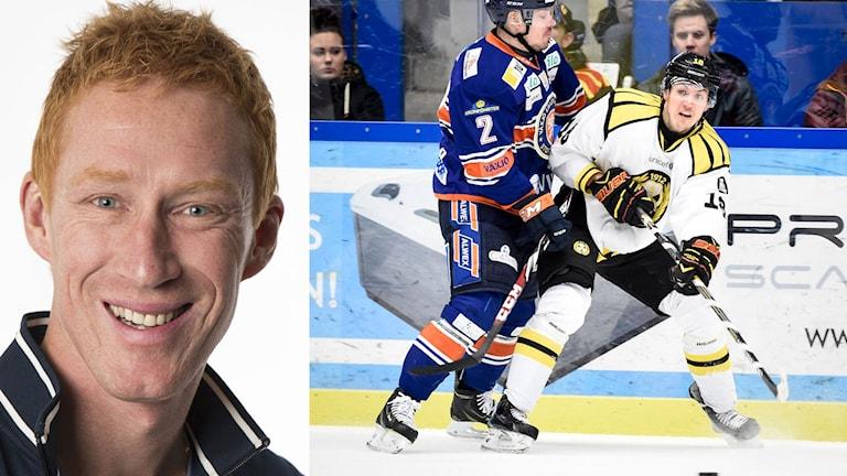 Collage Jörgen Jönsson Anton Rödin. Foto: SR och TT