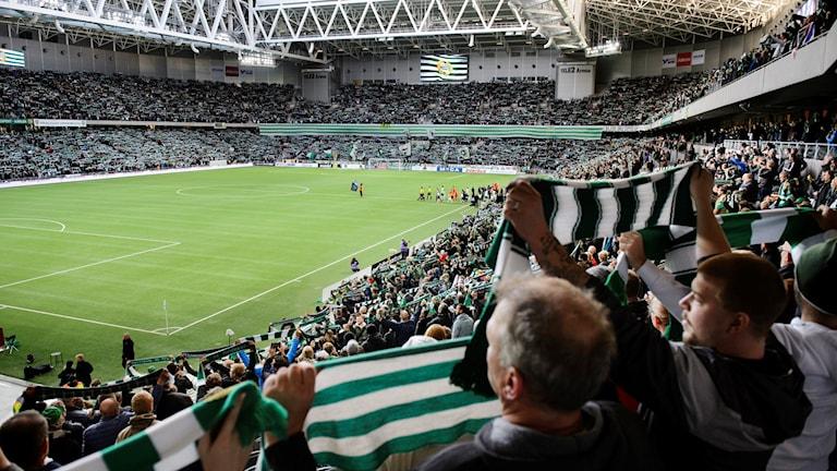 Hammarby satte ett nytt rekord när det gäller snittpublik i allsvenskan. Foto: Henrik Montgomery/TT