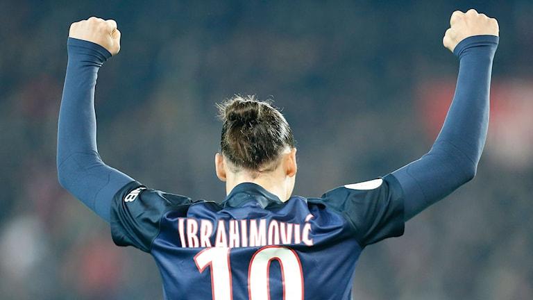 34-årige Zlatan Ibrahimovic är äldst bland spelarna på topp-tio. Foto: Jacques Brinon/TT.