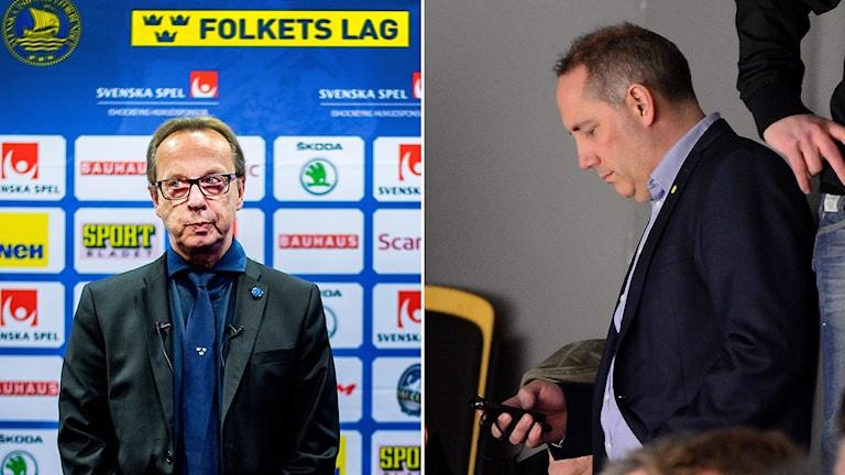 Pär Mårts och Lasse Johansson diskuteras i veckans avsnitt av ISTID. Foton: TT.