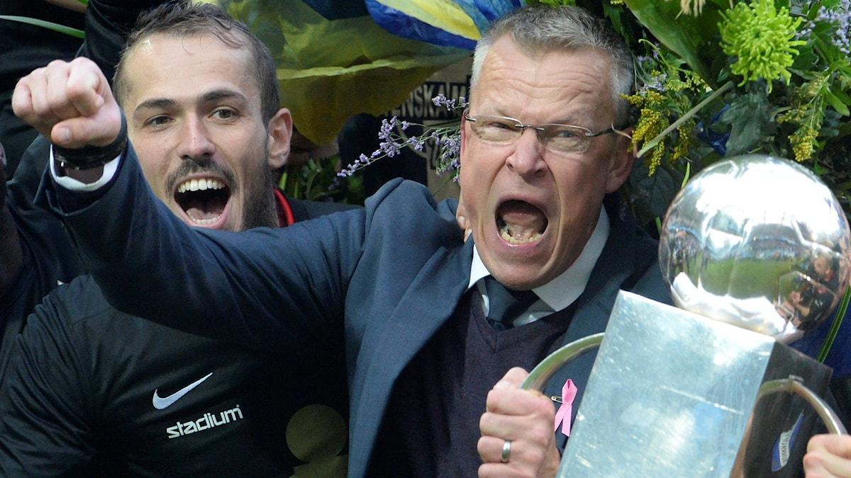 Emir Kujovic och Janne Andersson. Foto: TT