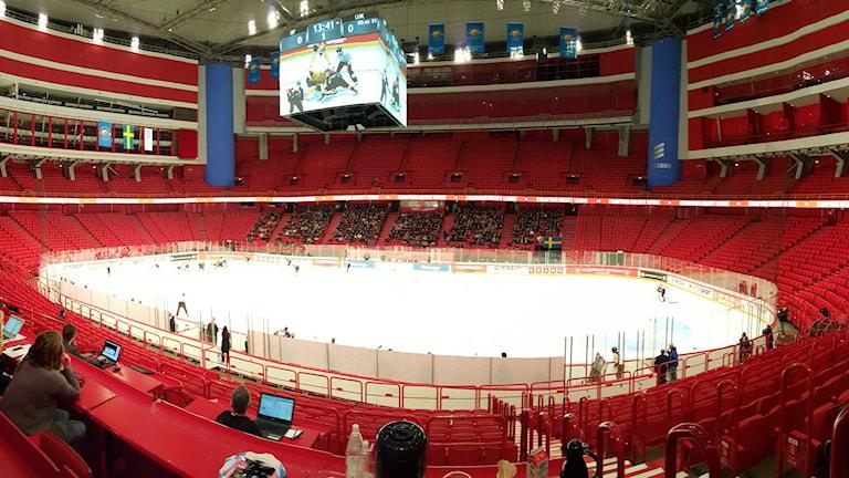 Ödsligt när Djurgården spelade i CHL. Foto: Hampus Haij/SR