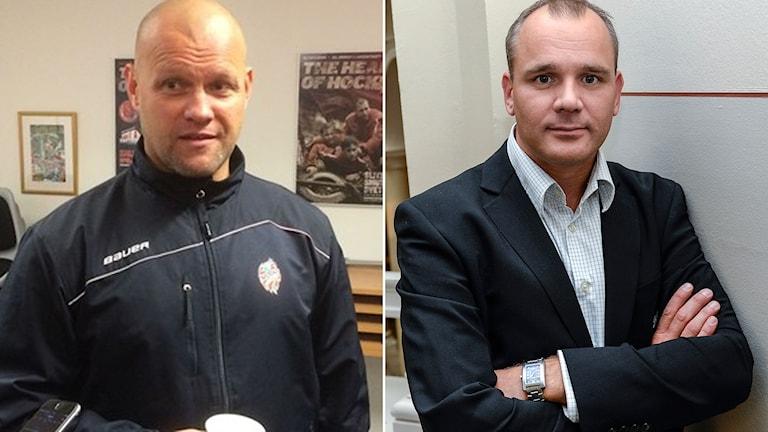 Modos nye tränare Andreas Johansson och SHL-sportchefen Johan Hemlin medverkar i veckans ISTID. Foton: SR och TT.