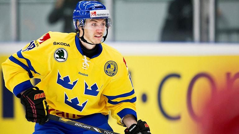 SHL:s poängkung Anton Rödin är med i Tre Kronors laguppställning mot Tjeckien. Foto: Andreas Hillergren/TT