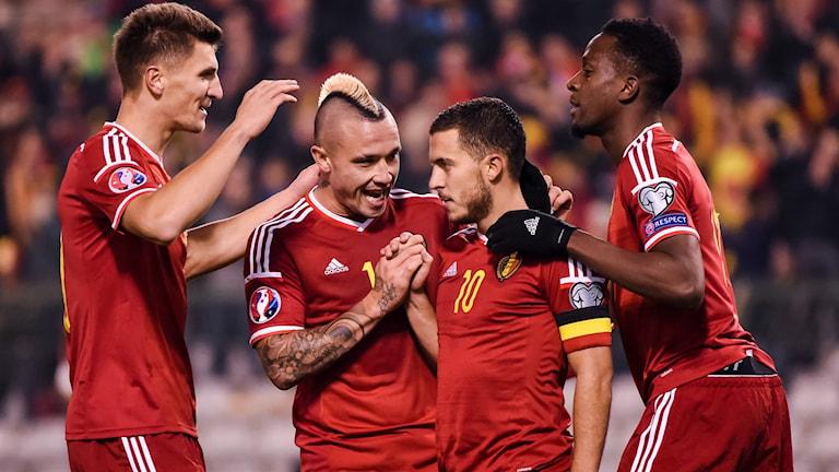 Belgien toppar Fifas världsranking. Foto: AP Photo/Geert Vanden Wijngaert/TT