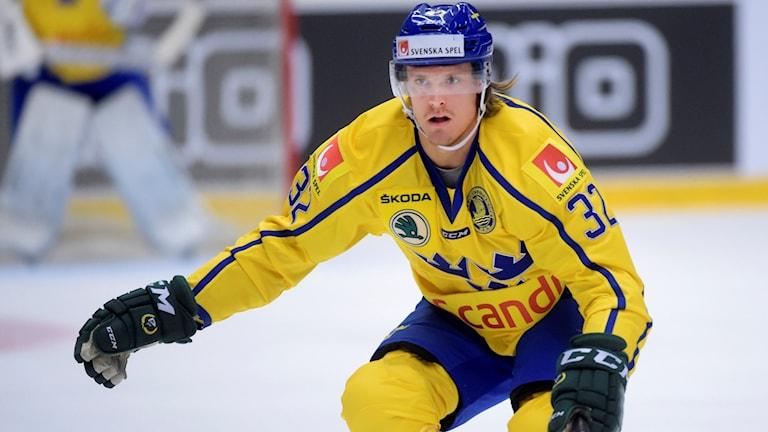 Tre Kronors Magnus Nygren under Karjala Cup. Foto: Fredrik Sandberg/TT