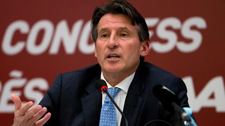 IAAF-ordföranden Sebastian Coe