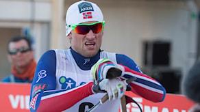 Drammen 20150311. Petter Northug jr. i onsdagens sprint i verdenscupen i Drammen. Foto: Terje Bendiksby/TT
