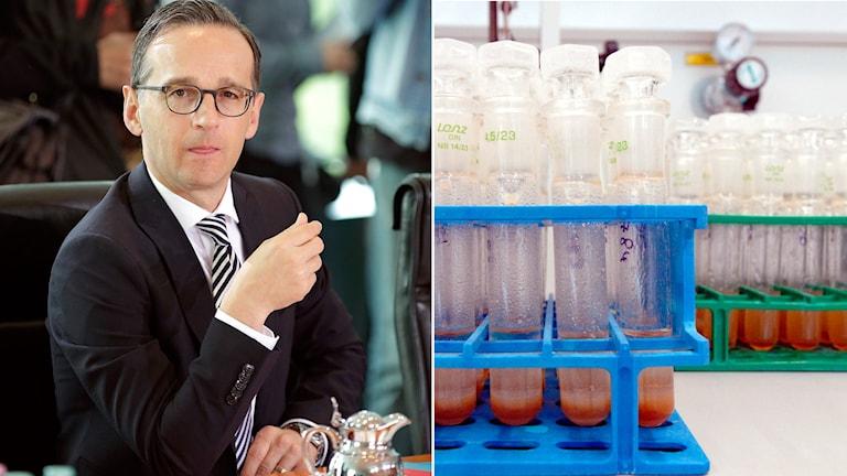 Tysklands justitieminister Heiko Maas till vänster