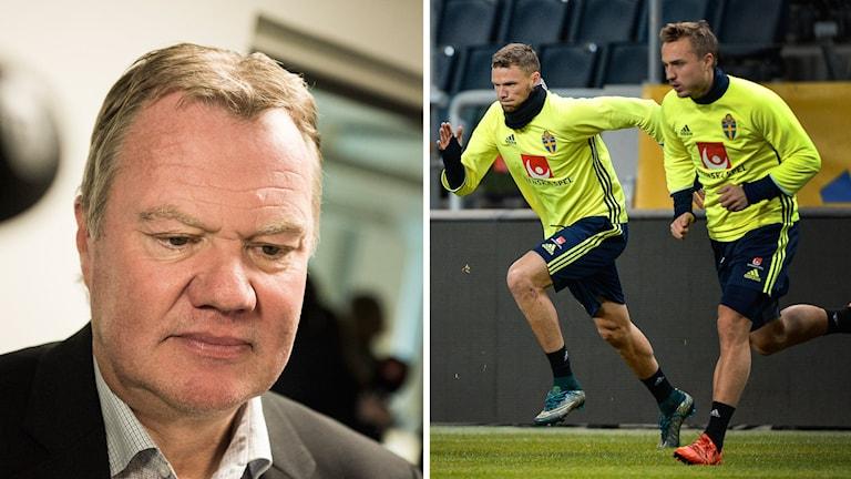 Karl-Erik Nilsson (tv) och Markus Berg och Pierre Bengtsson (th). Foto: TT bildbyrå