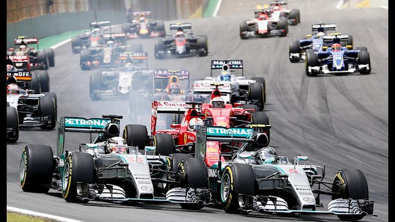 20151115 Nico Rosberg vann F1-tävlingen i São Paulo. Foto: Ricardo Mazalan/AP photo