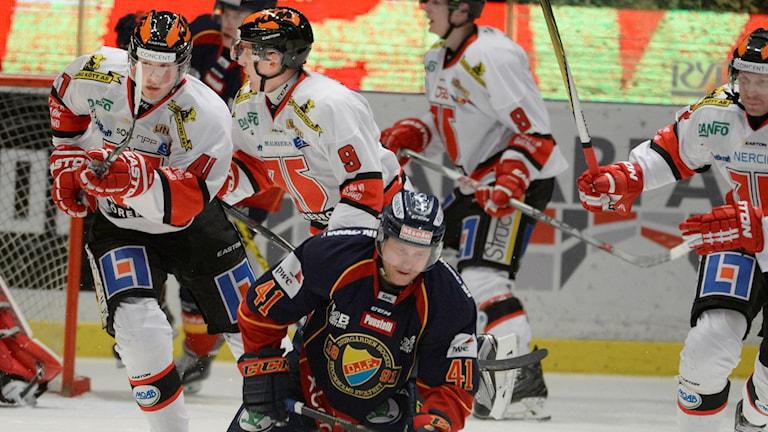 2015-11-16 Djurgårdens Patrick Thoresen i måndagens SHL-match i ishockey mellan Djurgården Hockey och Örebro Hockey på Hovet i Stockholm. Foto: Janerik Henriksson / TT