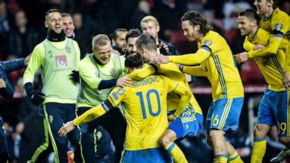 Sverige är klart för EM 2016 efter oavgjort mot Danmark på Parken. Foto: Jonas Ekströmer/TT
