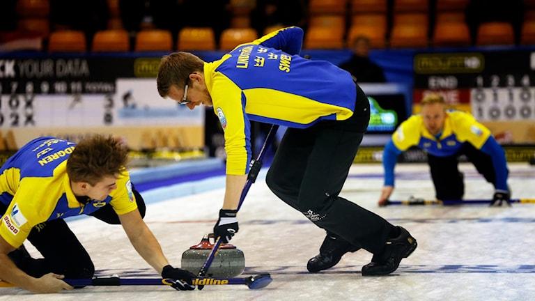Kristoffer Sundgren snubblar. Foto: @WCF