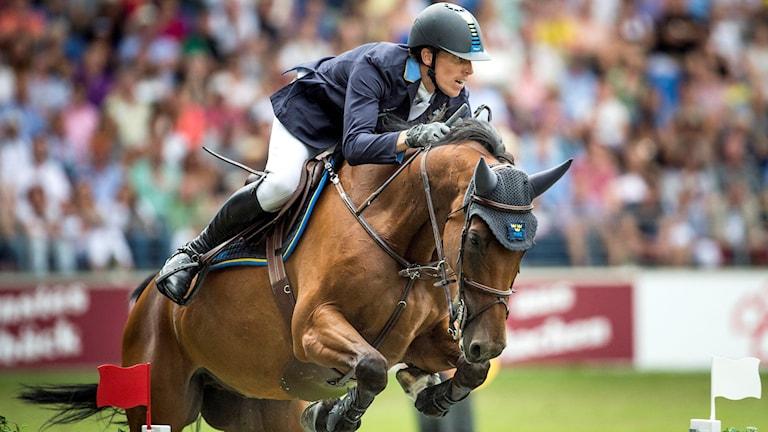Sveriges Henrik von Eckermann på hästen Cantinero. Foto: Pontus Lundahl/TT