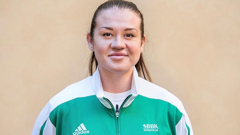 Hanna Bouldwin, tränare i Telge Basket. Foto: Marcus Ericsson / TT