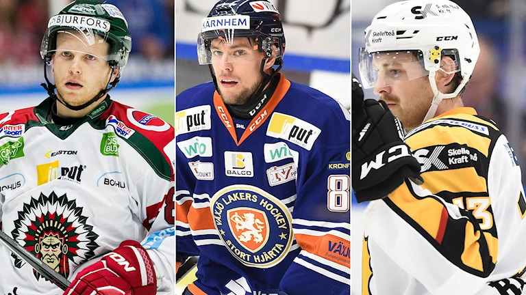 Ryan Lasch, Robert Rosén, Mattias Ritola. Foton: TT.