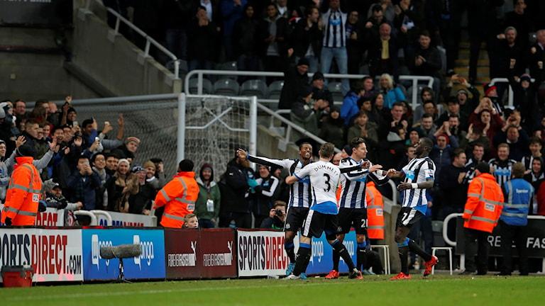 Newcastle jublar på St James' Park mot Liverpool