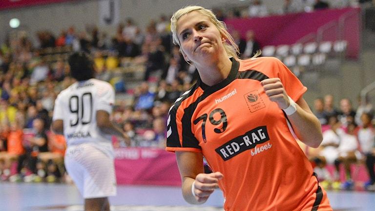 2015 Nederländska handbollsstjärnan Estavana Polman. Foto: Jonathan Nackstrand/TT