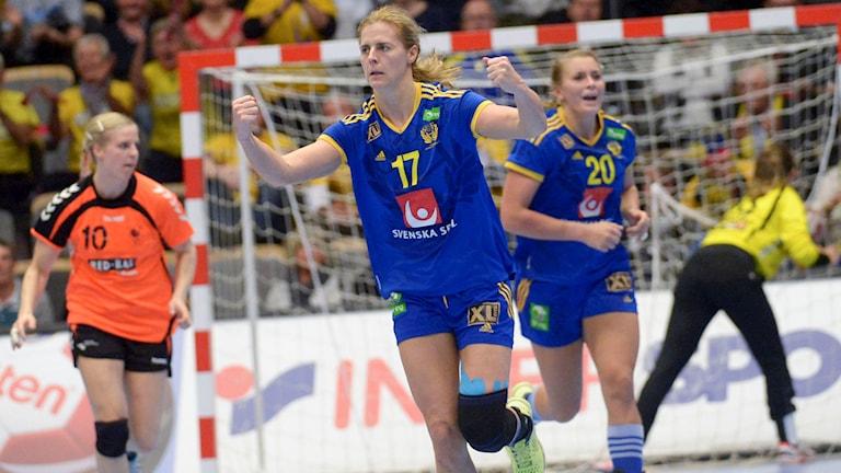 Linnea Torstenson kvitterade mot Nederländerna. Foto: Maja Suslin/TT