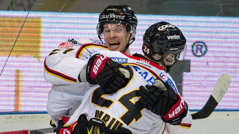 Brendan Mikkelson gjorde Luleås segermål. Foto: Björn Larsson Rosvall/TT