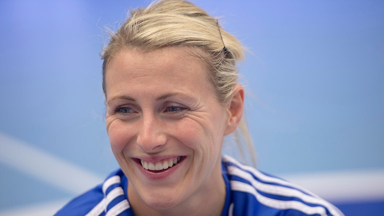 Johanna Ahlm ser fram emot åttondelsfinalen. Foto: Maja Suslin/TT