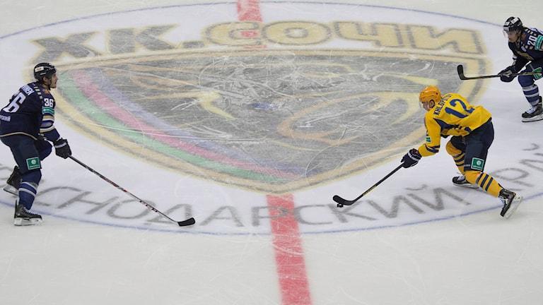 KHL-match mellan Sotji och Atlant. Dmitry Lovetsky/TT.