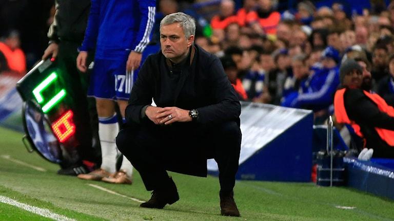 Mourinho har inga planer på att avgå trots kritiken. Foto: AP Photo/Alastair Grant/TT
