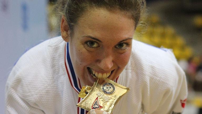Helena Edfelt vann VM i höstas. Foto: Jonathan Broberg/Budo och Kampsportsförbundet/TT