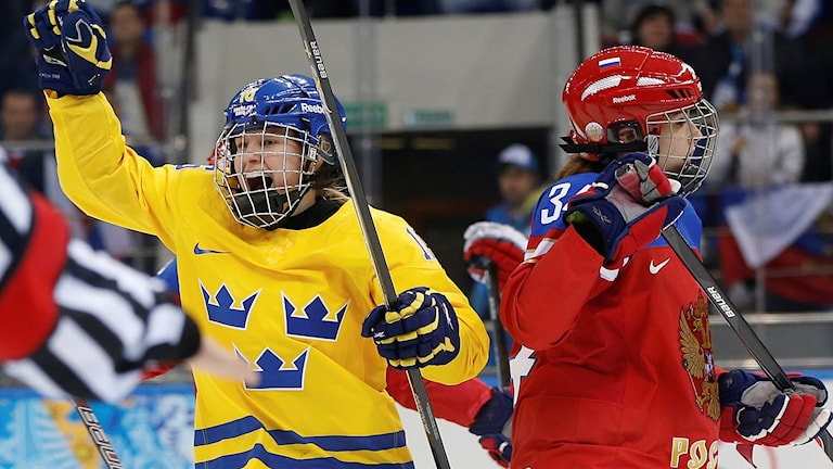 Arkiv: Pernilla Winberg jublar i OS i Sotji 2014.